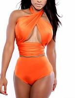 Summer Retro Totems Female's Swimwear Orange