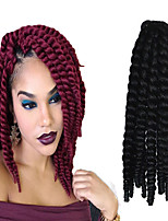 12-24 inch Crochet Braid Havana Mambo Afro Twist Hair Extension 2# with Crochet Hook