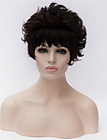 Best-selling Europe And The United States A Wig Middle-Aged And Old Black Short Curly wig