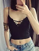 Women's Solid White / Black / Brown / Gray Vest,Street chic Sleeveless