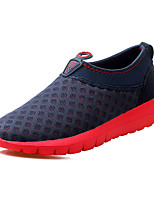 Men's Shoes Casual Tulle Loafers Green / Red