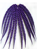 purple Havana Twist Braids Hair Extensions 12 14 16 18 20 22 24 Kanekalon 12 Strand 80-120g/pack gram Hair Braids