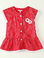 Girl's Going out Floral Dress,Polyester Summer Blue / Red