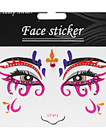 Abstract Pat Nightclubs Party Red Face Sticker LT-013
