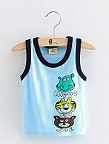 2-8Y Children Vest Baby Summer Boy Tanks Solid Color Girl Cotton Tank Sleeveless Kids Cartoon Lycral Beach