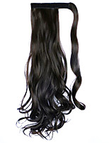 Wig Black 45CM Synthetic High Temperature Wire Curly Horsetail Color 4A