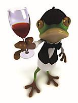 100% Handmade Modern Art Handsome Mr. Frog Home Decor Lovely Animal Wall Picture Oil Painting