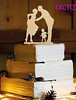 Kakkukoristeet Non-personalized Klassinen pari Resin Häät Keltainen Butterfly Theme 1 OPP