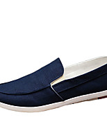 Men's Shoes Casual Canvas Loafers Blue / Gray / Beige