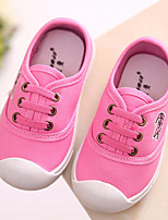 Girls' Shoes Casual Comfort Canvas Fashion Sneakers Black / Blue / Pink / Red