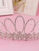 왕관 여성 웨딩 / 특별한날 / 야외 라인석 / 크리스탈 / 합금 투구 웨딩 / 특별한날 / 야외 1개