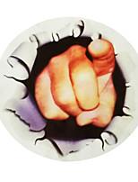 ZIQIAO Car Window Sticker New Funny Car Sticker 3D Finger Car Hoods Trunk Thriller Rear Window Decal Hot Selling