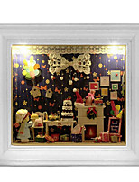 Chi Fun House Diy Handmade Cabin House Creative Birthday Gift Ideas Illuminated Wall Model