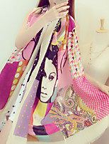 Fashion Beautiful Pattern Printing Color Colorful Cotton Twill Scarf Shawl