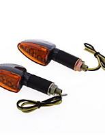 2x moto giallo 15 LED indicatori di direzione lampadina lampeggiante dc12v lente 10 millimetri