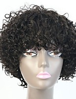 Grade 8A Quality Indian Remy Human Hair Short Curly Wigs For Black Women