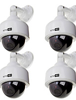 Dummy Speed Dome Camera Simulated outdoor security surveillance camera 4pcs white