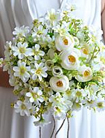 Bouquets de Noiva Redondo Lírios Buquês Casamento Branco Cetim / Algodão / Tule 9.06