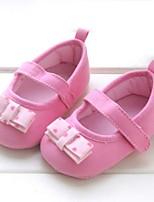 Zapatos de bebé-Planos-Exterior-Algodón-Rosa