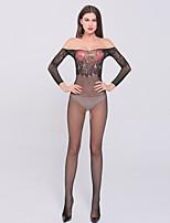 Women's Fashion Off Shoulder Mesh Ultra Sexy / Teddy Nightwear,Nylon