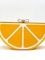 Décontracté / Soirée / Fête-Cabas-Orange-Métallique-Femme