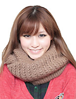 Autumn And Winter Women Knitted Wool Lovers Pure Color Hedging Scarf