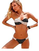 Women Black and White Sexy Swimwear Bikini Swimsuit