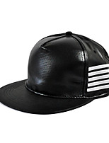 Unisex Leather Stripes Hip-hop Baseball Outdoor Fashion Hat