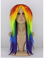 Fashion Long Natural Straight of High Quality Mixed Color Synthetic Wigs