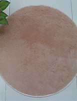 Pure Colored Casual Style Polyester Fiber Material Non-Slip Thickened Circular Mat W23