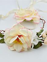 Femme / Jeune bouquetière Tissu Casque-Mariage / Occasion spéciale / Décontracté Couronnes 2 Pièces