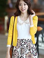 Women's Solid Blue / Pink / Green / Yellow / Purple Cardigan,Street chic Long Sleeve