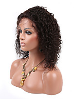EVAWIGS Hot Sale  Brazilian Human Hair Wig Full Lace Wig Natural Color Fashion Short Curly  Wig with Baby Hair