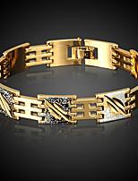 צמידים לגברים שרשרת זהב ללא אבן