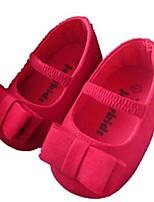 Chaussures bébé-Rouge-Extérieure-Daim-Plates