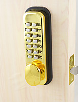 Mechanical Waterproof Push Button Keyless Digital Numeral Deadbolt Coded Door lock Gold Plating Finish