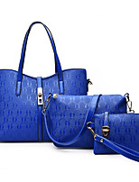 Women-Formal / Casual / Office & Career / Shopping-PU-Tote-White / Blue / Red / Black