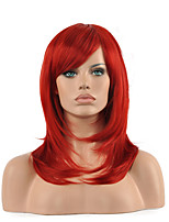 Hannah Anafeloz Red Cosplay Wig Middle Long Straight Synthetic Wig.