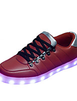 Women's Shoes Leatherette Flat Heel Ballerina / Novelty Fashion SneakersWedding / Outdoor / LED hoes