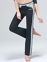 Pantalones de yoga Pantalones Capilaridad Cintura Media Eslático Ropa deportiva Gris / Negro / Morado Mujer OtrosYoga / Fitness /