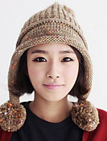 Women Knitwear Korean Cute Balls Wool Knit Hat