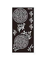 1pc Fake Black Henna Indian Round Flower Tattoo Temporary Stencil Women Body Art Tattoo Sticker S205