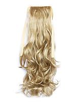 Golden Length 50CM The New Curly Wig Melange Belt Type Horsetail(Color 24)