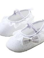 Zapatos de bebé-Planos-Exterior-Algodón-Blanco