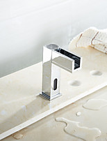 LED Sensor Touchless Bathroom Faucet Vessel Sink Mixer Tap Lavatory Chrome Finished hot and cold