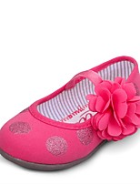 Girls' Shoes Dress / Casual Canvas Flats Spring / Summer / Fall Comfort / Round Toe / Closed Toe Flat Heel Flower / Gore Pink