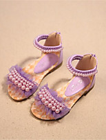 Girls' Shoes Outdoor Comfort Leatherette Sandals Pink / Purple / White