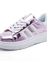 Women's Sneakers Summer Fall Ankle Strap PU Casual Lace-up Blushing Pink Silver Gold