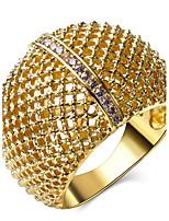 Femme Anneaux,Bijoux Zircon / Cuivre / Platiné / Plaqué or A la Mode Mariage / Soirée / Quotidien / Décontracté / N/C 1pc,5 / 6 / 7 / 8 /