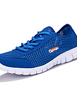 Men's Shoes Casual Tulle Fashion Sneakers Gray / Royal Blue / Fuchsia